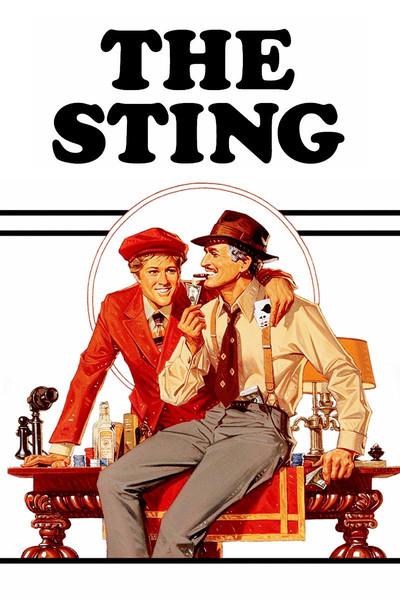 movie poster the Sting starring Newman and Redford